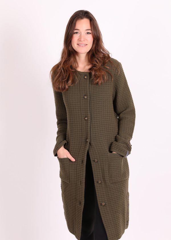 cashmere coat olive