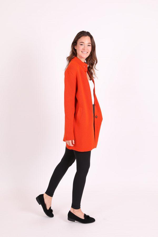 cashmere coat orange