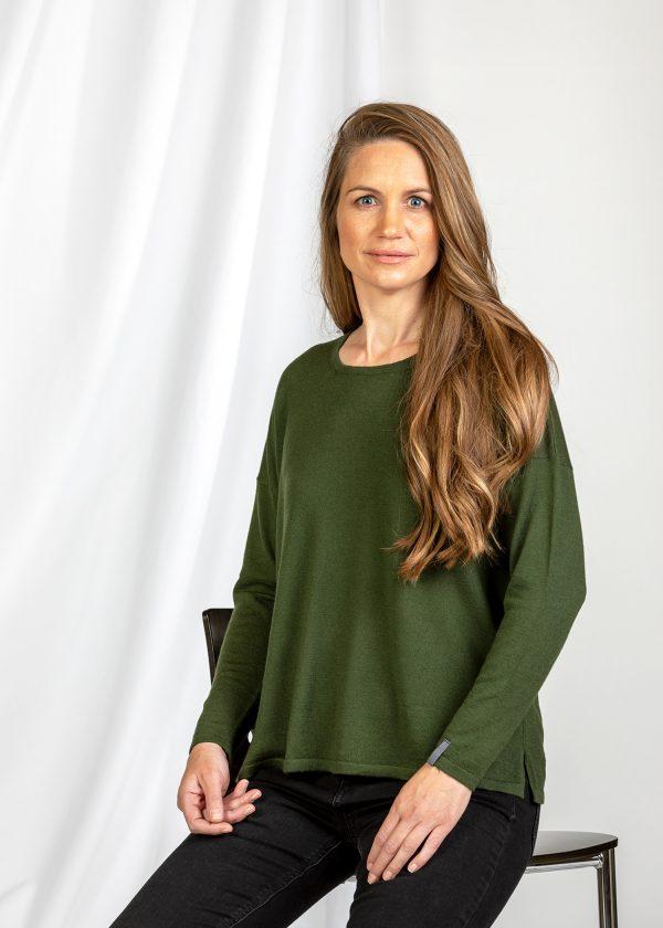 Damenpullover grün