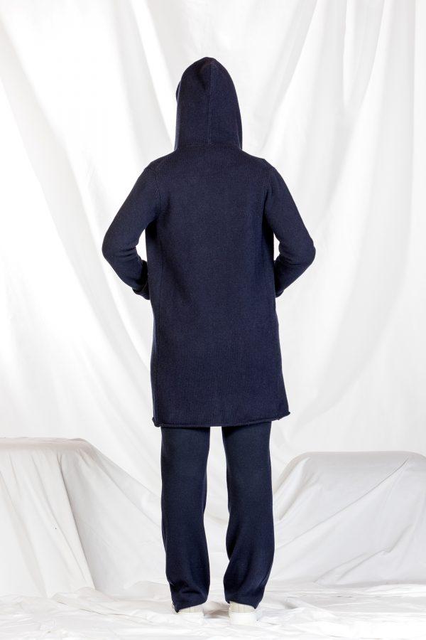 Kaschmir Hoodie dunkelblau